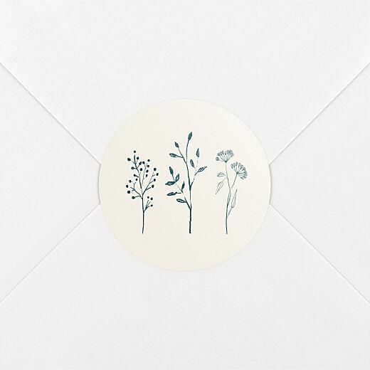 Stickers pour enveloppes mariage Herbier beige - Vue 2