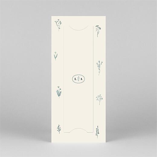 Carte de remerciement mariage Herbier (marque-page) beige - Vue 3