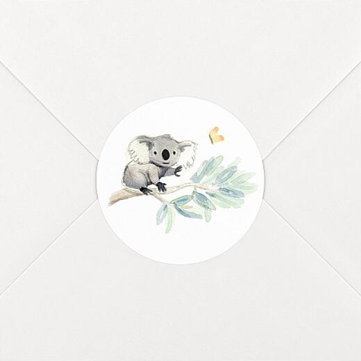 Stickers Naissance Koalas en famille blanc - Vue 2
