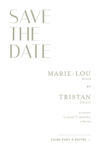 Save the Date Capitale rouge