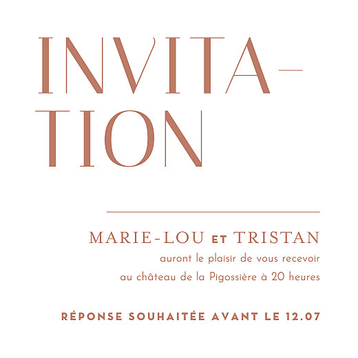 Carton d'invitation mariage Capitale rouge - Page 1