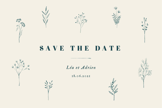 Save the Date Herbier beige