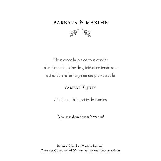 Faire-part de mariage Psyché (dorure) blanc - Page 3