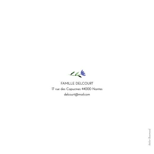Faire-part de naissance Alphabet fleuri blanc - Page 4
