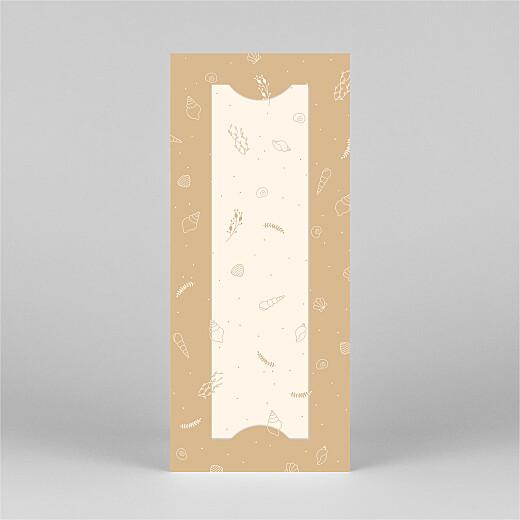 Faire-part de naissance Élégant coquillage (marque-page) sable - Vue 3