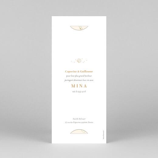 Faire-part de naissance Élégant coquillage (marque-page) sable - Vue 4