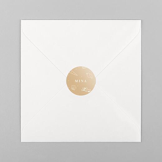 Stickers Naissance Élégant coquillage sable - Vue 1