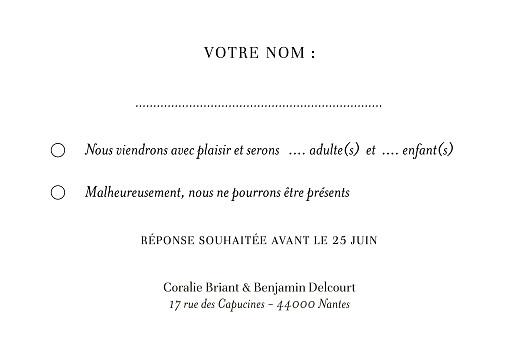 Carton réponse mariage Solstice d'été bleu - Page 2