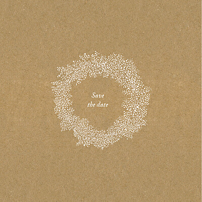 Save the Date Gypsophile kraft finition
