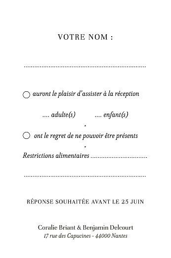 Carton réponse mariage Solstice d'été portrait bleu - Page 2