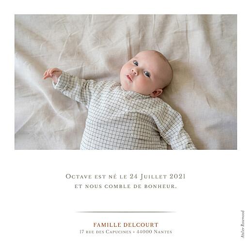 Faire-part de naissance Joli détail blanc - Page 2