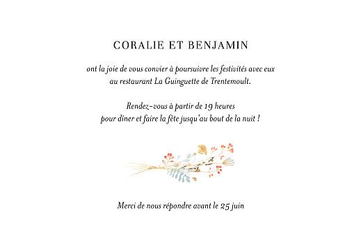 Carton d'invitation mariage Solstice d'été vert - Page 2