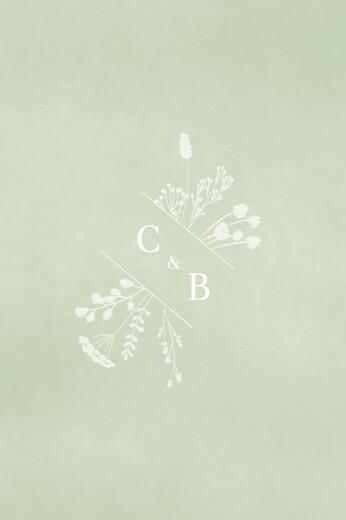 Carton d'invitation mariage Solstice d'été portrait vert