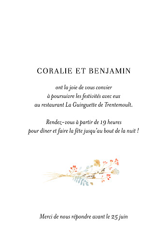 Carton d'invitation mariage Solstice d'été portrait vert - Page 2