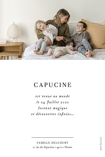 Faire-part de naissance Doux instants (portrait) blanc - Page 2