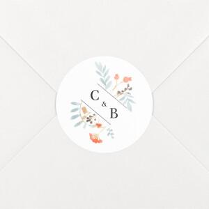 Stickers mariage Solstice d'été blanc