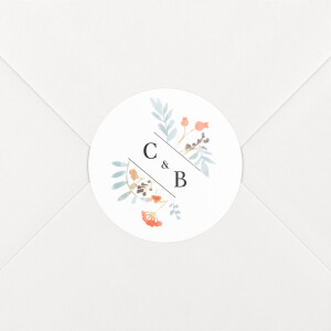 Stickers pour enveloppes mariage Solstice d'été blanc
