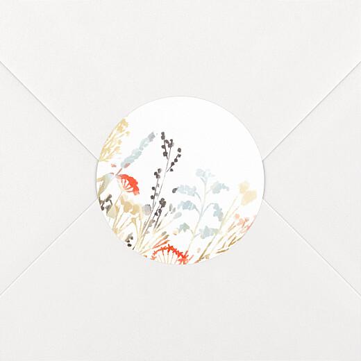 Stickers pour enveloppes mariage Solstice d'été blanc - Vue 2