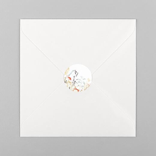 Stickers pour enveloppes mariage Solstice d'été blanc - Vue 1