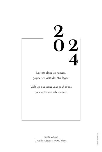 Carte de voeux Caractère blanc - Page 2