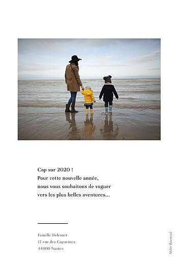 Carte de voeux Happy year blanc - Page 2