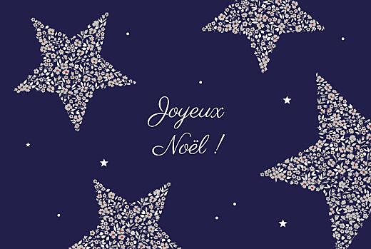 Carte de voeux Liberty étoiles paysage nuit