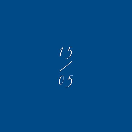 Carton réponse mariage Calligraphie bleu - Page 2