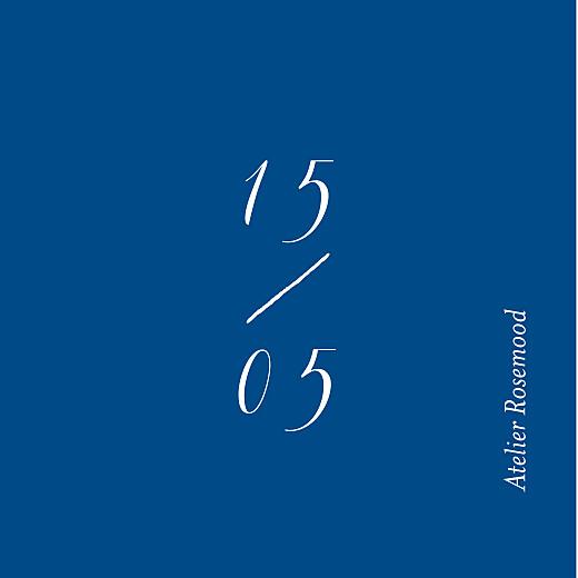 Etiquette de mariage Calligraphie bleu - Page 2