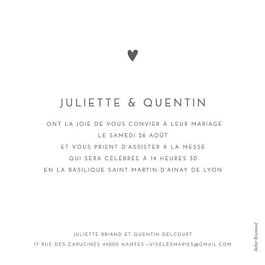 Faire-part de mariage Élégant cœur blanc - Page 2