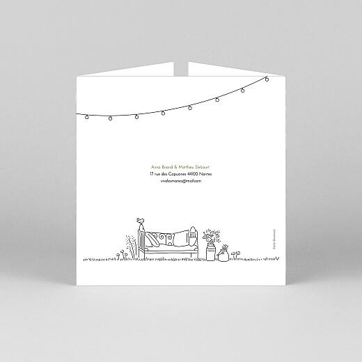 Faire-part de mariage Promesse bohème (fenêtre) blanc - Vue 3