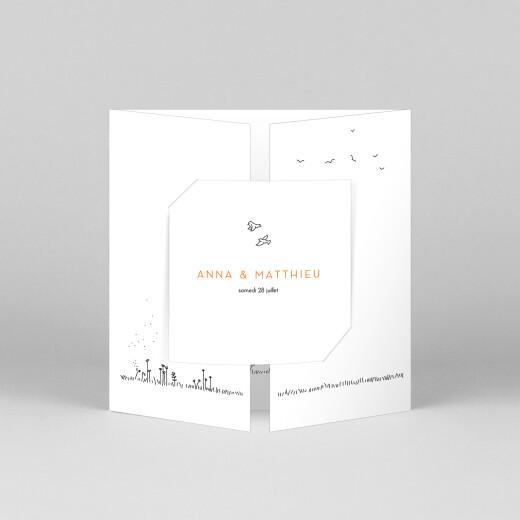 Faire-part de mariage Promesse champêtre (fenêtre) blanc - Vue 1
