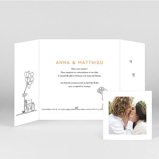 Faire-part de mariage Promesse champêtre (fenêtre) blanc - Vue 2