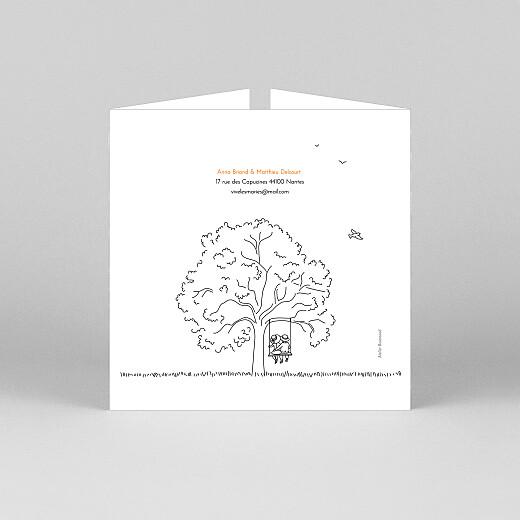 Faire-part de mariage Promesse champêtre (fenêtre) blanc - Vue 3