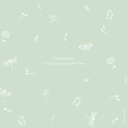 Faire-part de naissance Élégant papillon (4 pages) vert - Page 4