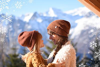 Carte de voeux Merveilles d'hiver paysage bleu finition