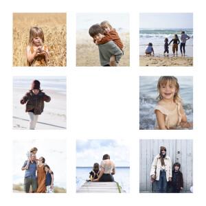 Carte de voeux Simple 8 photos (dorure) blanc
