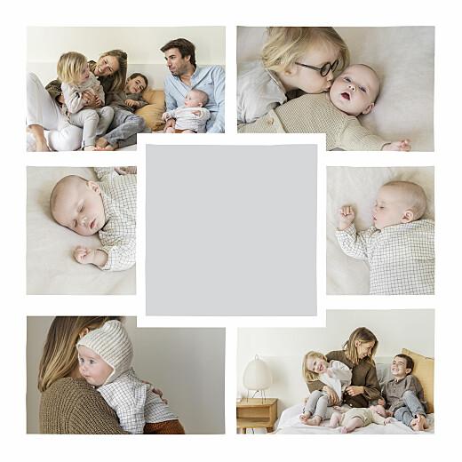 Carte de voeux Nœud pap' (dorure) gris