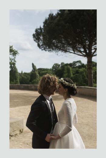 Carte de remerciement mariage Songe champêtre gypsophile