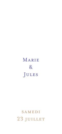 Etiquette perforée mariage Love code bleu