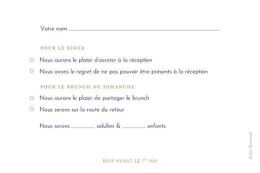 Carton réponse mariage Love code bleu - Page 2