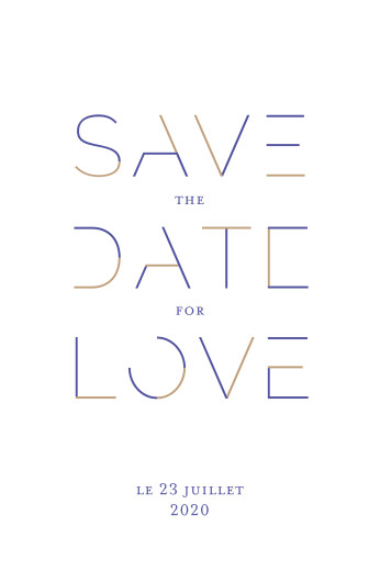 Save the Date Love code bleu