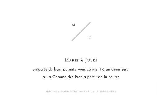 Carton d'invitation mariage Love code noir - Page 2