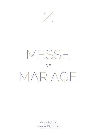 Livret de messe mariage Love code bleu