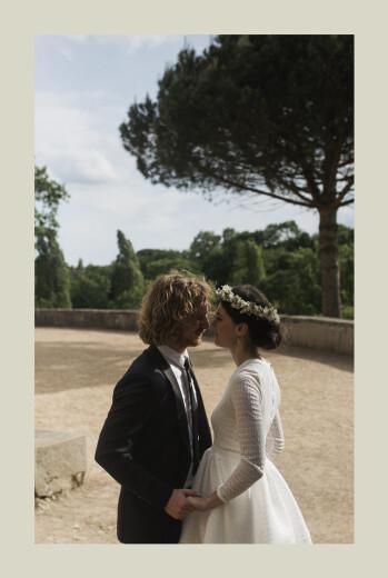 Carte de remerciement mariage Songe méditerranéen palmier