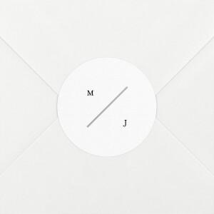 Stickers pour enveloppes mariage Love code noir