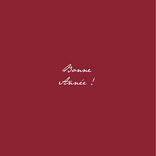 Carte de voeux Gypsophile chic (dorure) rouge