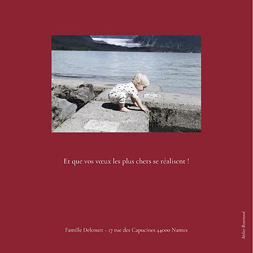 Carte de voeux Gypsophile chic (dorure) rouge - Page 4