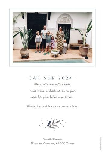 Carte de voeux Jolies brindilles bleu - Page 2