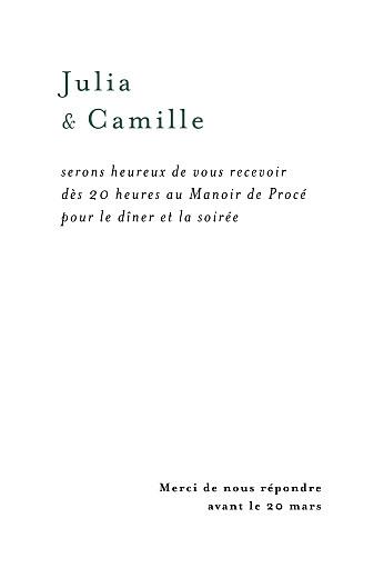 Carton d'invitation mariage Songe méditerranéen palmier - Page 2