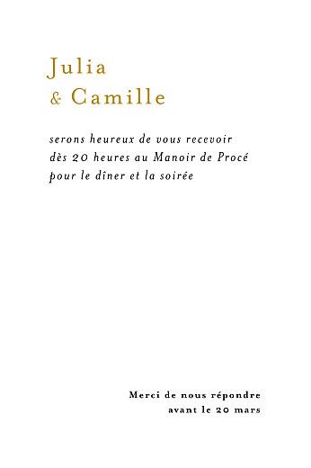 Carton d'invitation mariage Songe atlantique épillet - Page 2